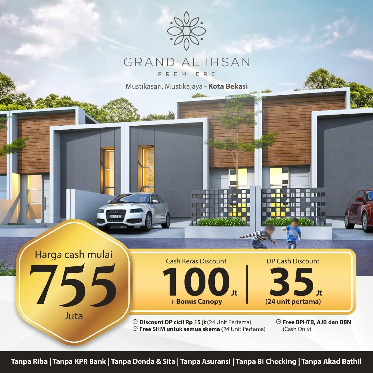 perumahan syariah bekasi kota – perumahan syariah bekasi timur – perumahan syariah mustikasari – promo 1 lantai – grand al ihsan premiere – nprosyar – davpropertysyariah