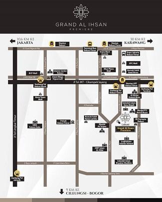 perumahan syariah bekasi kota - perumahan syariah bekasi timur - perumahan syariah mustikasari - map 325x106 - grand al ihsan premiere - nprosyar - davpropertysyariah